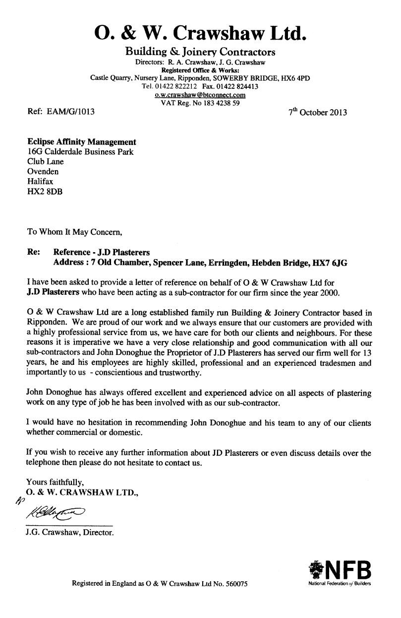 O. & W. Crawshaw Ltd. Building & Joinery Contractors